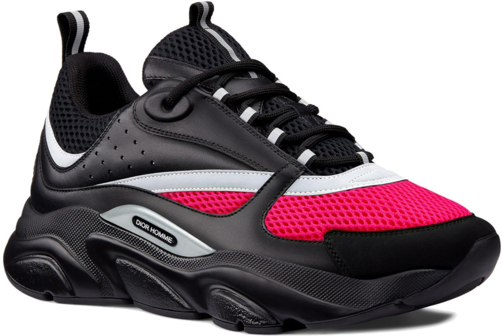 Black And Pink Dior B22 Sneakers Worn By A Boogie