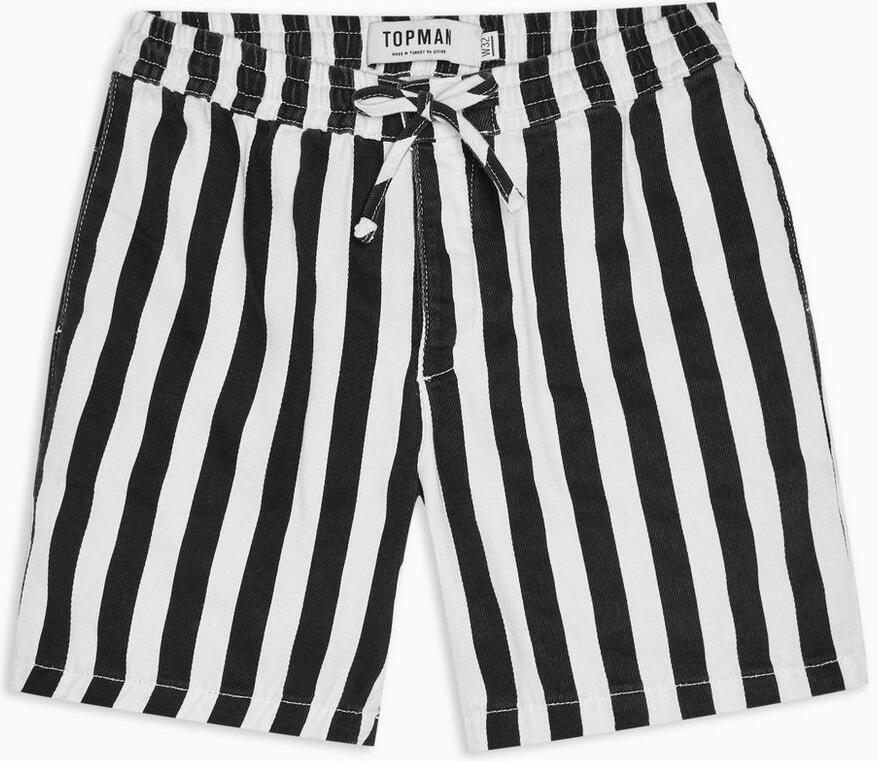 Black And White Striped Shorts Worn By Lil Wayne