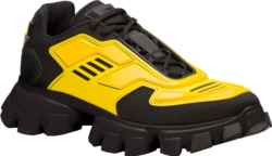Black And Yellow Prada Cloudbust Thunder Sneakers
