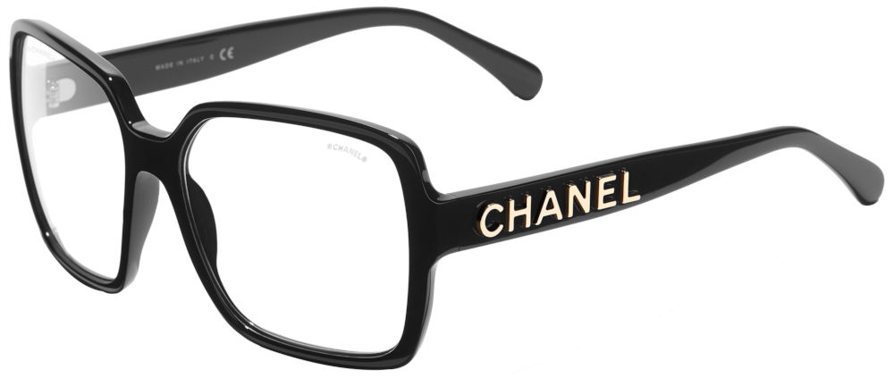 Black Chanel Clear Lens Glasses Worn By Trippie Red