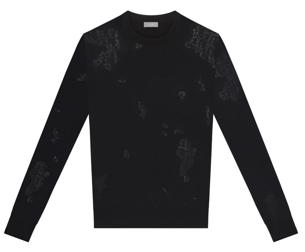 Black Dior Technical Wool Sweater Worn By Offset In His Clout Music Video