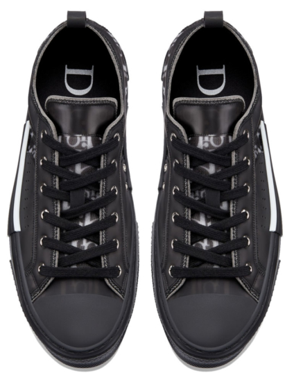 Black Doir Sneakers With Oblique Logo Print