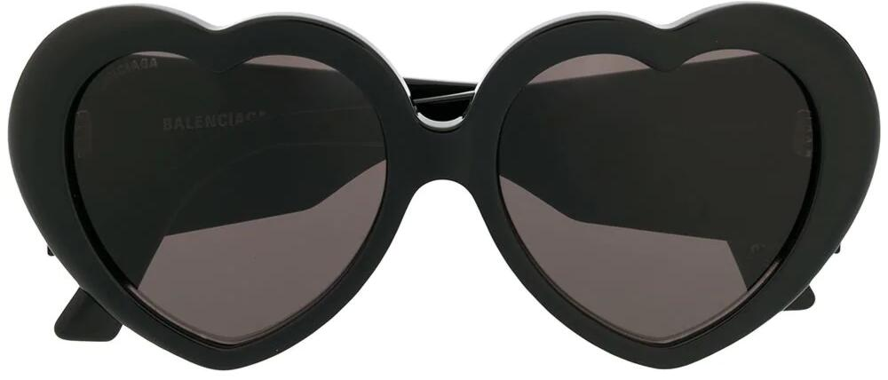 Black Heart Shaped Balenciaga Sunglasses