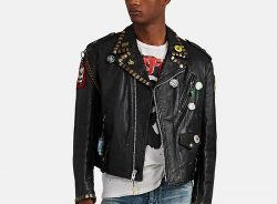 Black Leather Jacket With Patches Worn By Pnb Rock In I Like Girls Music Video