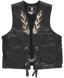 Black Leather Vest Worn By Tyga In His Goddamn Music Video