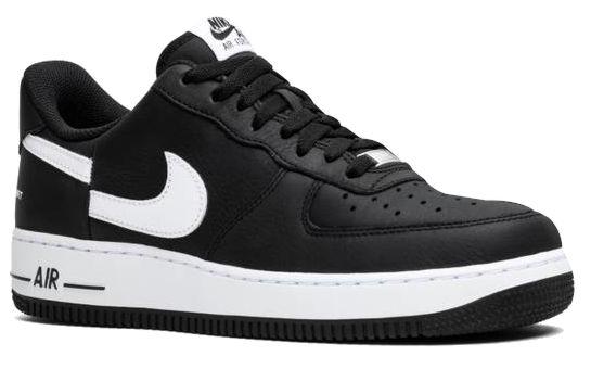 Black Nike Lowtop Sneakers With Broken Split Logo