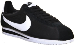 Black Nylon And Suede Nike Cortez Sneakers
