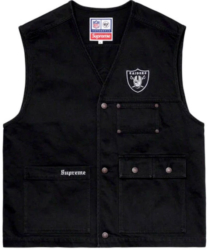 Black Oakland Raiders Vest Worn By G Eazy