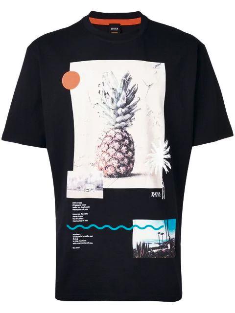 Black Pineapple Print T Shirt Worn By Kevin Gates