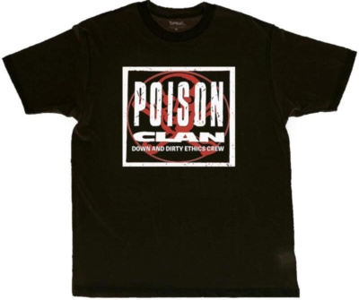 Black Poison Clan Printed Shirt Worn By Denzel Curry