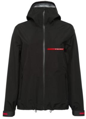 Black Prada Active Nylon Hooded Jacket