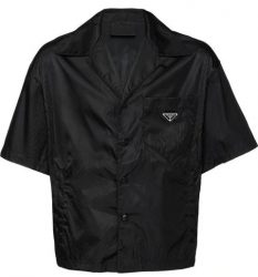Black Prada Shirt Worn By Kanye West In A Picture Next To Kim Kardashian