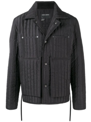 Black Striped Quiled Craig Green Jacket Worn By Young Thug