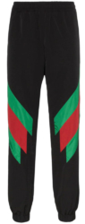 Black With Green And Red Stripe Track Pants Worn By Preme