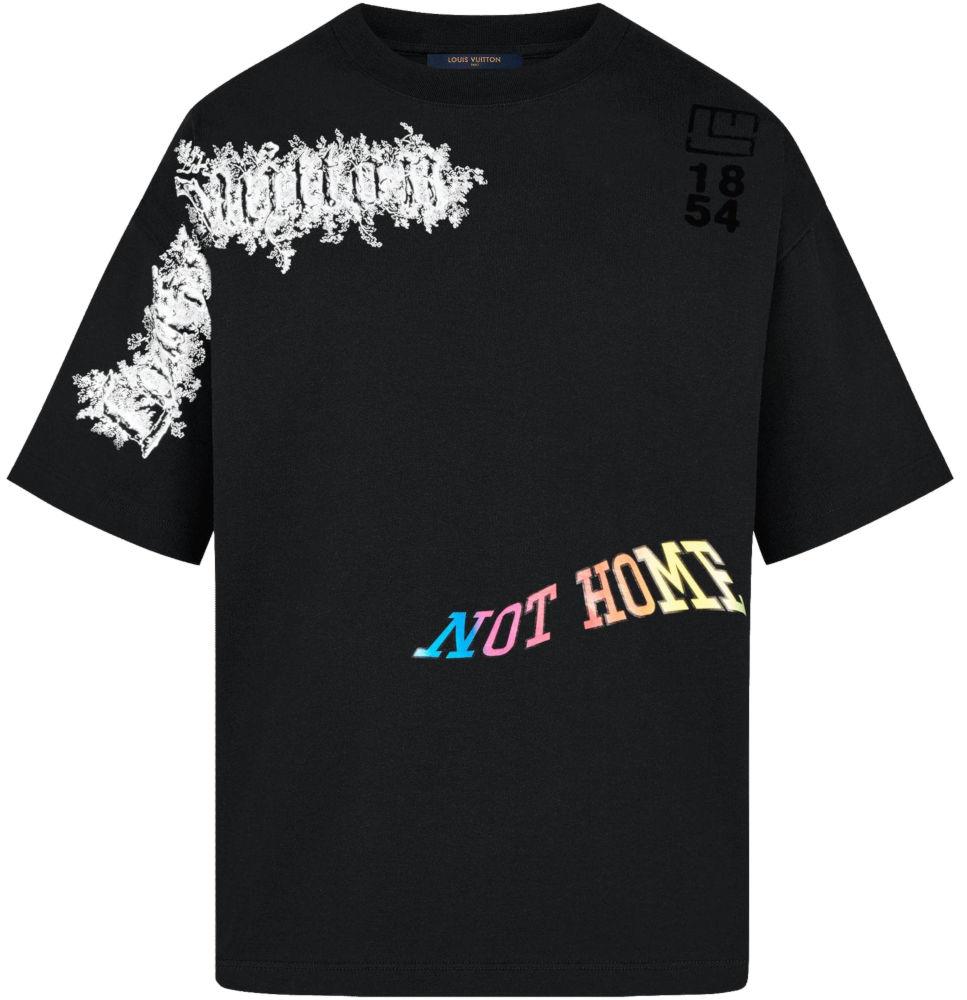 Blakc Louis Vuitton Printed Dorty Shirt Worn By Pnb Rock