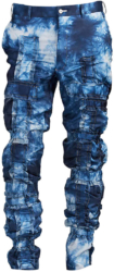 Blue And White Ruffled Pants Worn By Rich The Kid