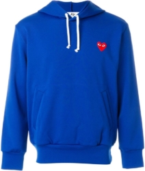 Blue Comme Des Garcons Hoodie With White Drawstrings