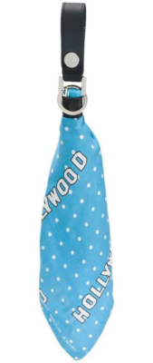 Blue Key Ring With White Polkadots And 'hollywood' Print Made By Amiri