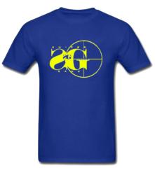 Blue Sniper Gang T Shirt With Yellow Printed Logo Worn By Kodak Black