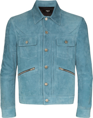 Blue Suede Shirt Jacket