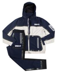 Blue Vapor Fit Print Jacket Made By Rockstar Original
