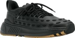 'Lace Speedster' Black Sneakers