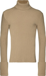 Bottega Vaneta Beige Ribber Turtleneck