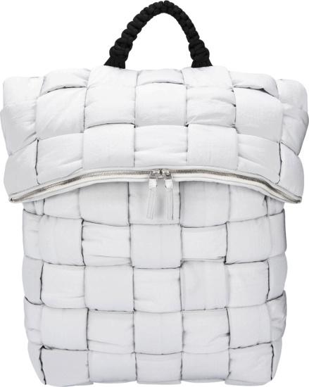 Bottega Vaneta White Quilted Backpack