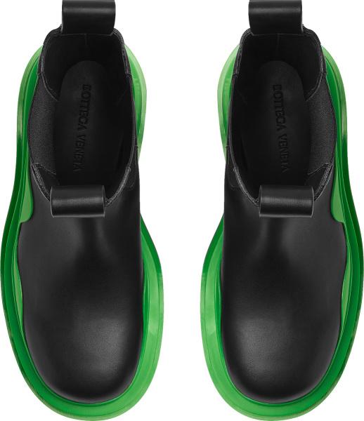 Bottega Veneta Black And Green Tall Boots