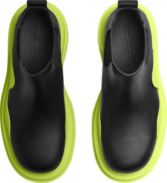 Bottega Veneta Black And Yellow Sole Tire Boots