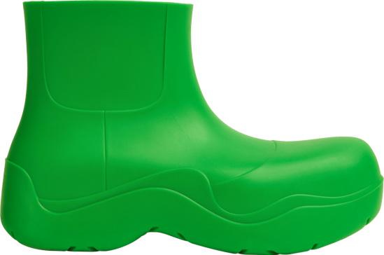 Bottega Veneta Green Puddle Ankle Boots