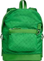 Bottega Veneta Green Weave Print Backpack