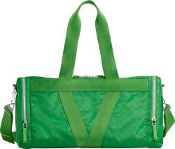 Bottega Veneta Green Weave Print Duffle Bag