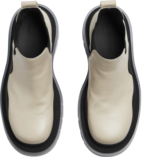 Bottega Veneta Ivory And Clear Sole Tire Boots 630281vbs508207