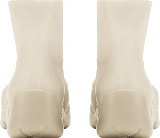 Bottega Veneta Ivory Rubber Boots