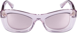 Bottega Veneta Purple Clear Sunglasses
