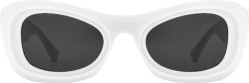 Bottega Veneta White Cat Eye Sunglasses