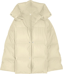 Bottega Veneta White Ivory Oversized Puffer Jacket