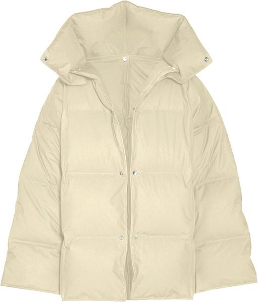 Bottega Veneta White Ivory Oversized Puffer Jacket