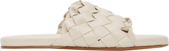 Bottege Veneta Ivory Woven Slides