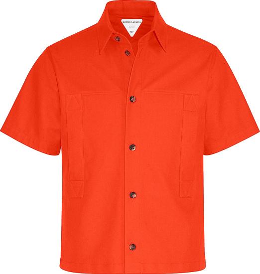 Botteger Veneta Orange Cropped Shirt