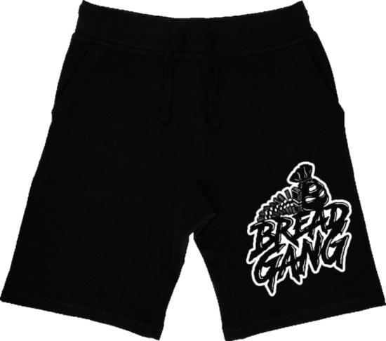 Bread Gang Black Logo Print Shorts