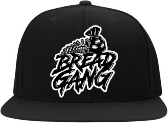 Bread Gang Black Logo Print Snapback
