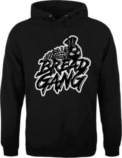 Bread Gang Logo Print Black Hoodie