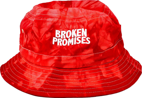 Broken Promises Red Tie Dye Bucket Hat