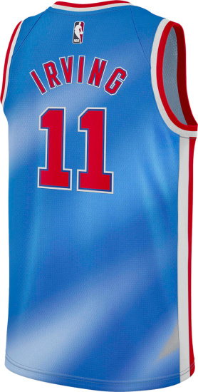 Brooklyn Nets Blue Red White Kyrie Irving Jersey