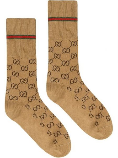 Brown Gg Print Gucci Socks Worn By Juice Wrld In His Instagram Psot
