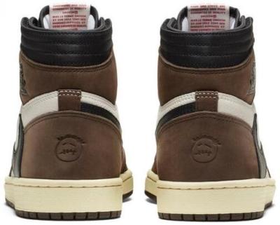 Brown High Top Nike Sneakers With Black Backwards Swoosh