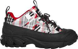 Burberr Red Tartan Arthur Sneakers
