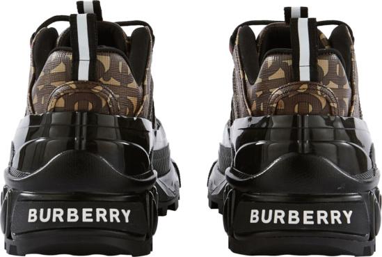 Burberry Monogram Print E Canvas Arthur Sneakers